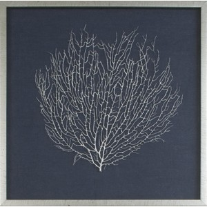 Natural Coral Sea Fan Art Finished In Silver | Mirror Image Home