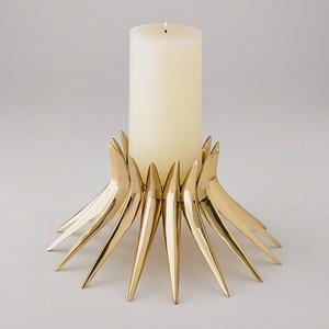 Corona Candleholder in Brass