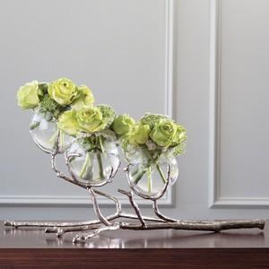 Twig Three Vase Holder in Nickel | Global Views