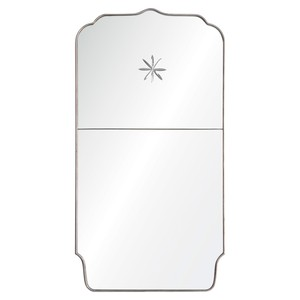 Panel Mirror with Etched Star Detail | Mirror Image Home