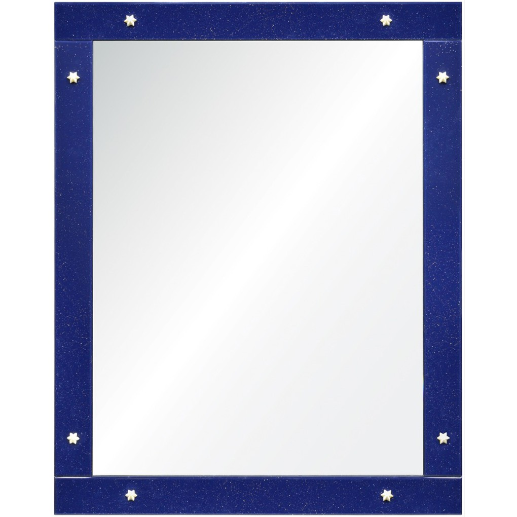 Shimmering Blue Mirror   Mirror Image Home