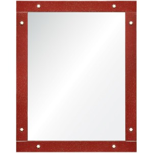 Shimmering Red Mirror
