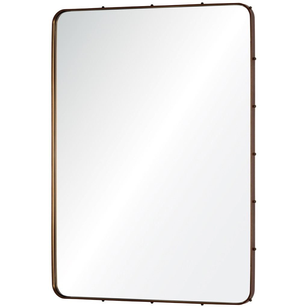 Leather Wrapped Mirror | Mirror Image Home