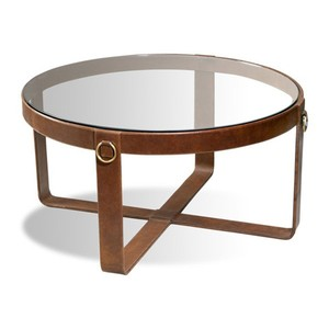 Jameson Leather Cocktail Table | Interlude Home
