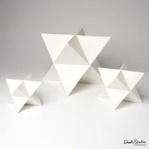 Set of Three Star Sculptures in Matte White | Global Views