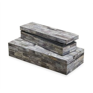 Set of Two Riika Bone Boxes   Interlude Home