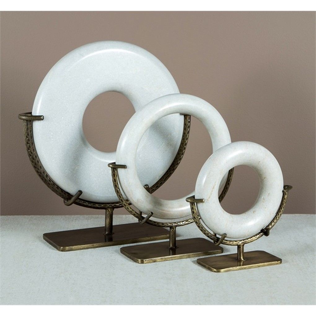 Set of Three Agra Ring Sculptures | Interlude Home