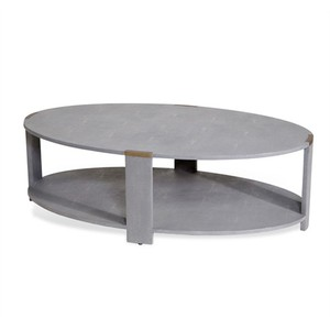 Evelyn Cocktail Table in Gray Shagreen