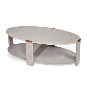 Evelyn Cocktail Table in Cream Shagreen | Interlude Home