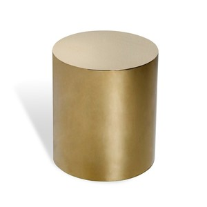 Aubrey Cylinder Side Table in Brass | Interlude Home