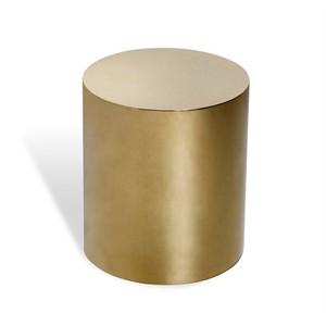 Aubrey Cylinder Side Table in Brass | Interlude Home
