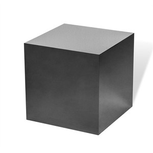 Aubrey Cube Side Table in Black Nickel