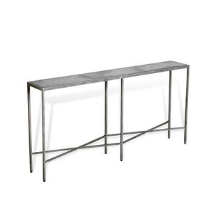 Dorian Vellum Grand Console Table | Interlude Home