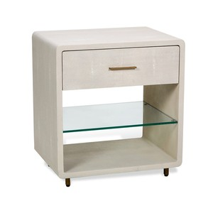 Calypso Bedside Chest in Ivory | Interlude Home
