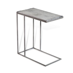 Johannes Hugging Table in Gray Vellum | Interlude Home