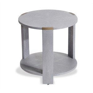 Evelyn Side Table in Gray Shagreen | Interlude Home