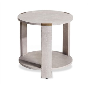 Evelyn Side Table in Cream Shagreen | Interlude Home