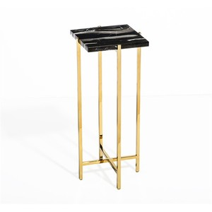 Laurent Square Drink Table in Black | Interlude Home