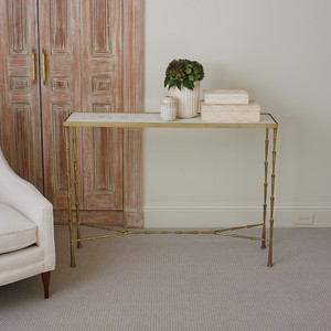 Spike Console Table with White Marble Top