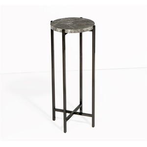 Laurent Round Drink Table in Gray | Interlude Home