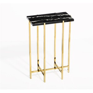 Laurent Rectangular Drink Table in Black | Interlude Home