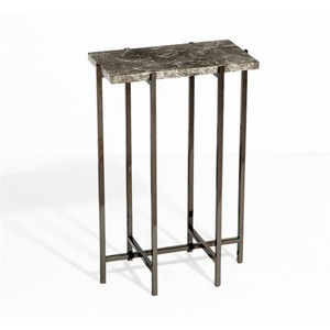 Laurent Rectangular Drink Table in Gray | Interlude Home