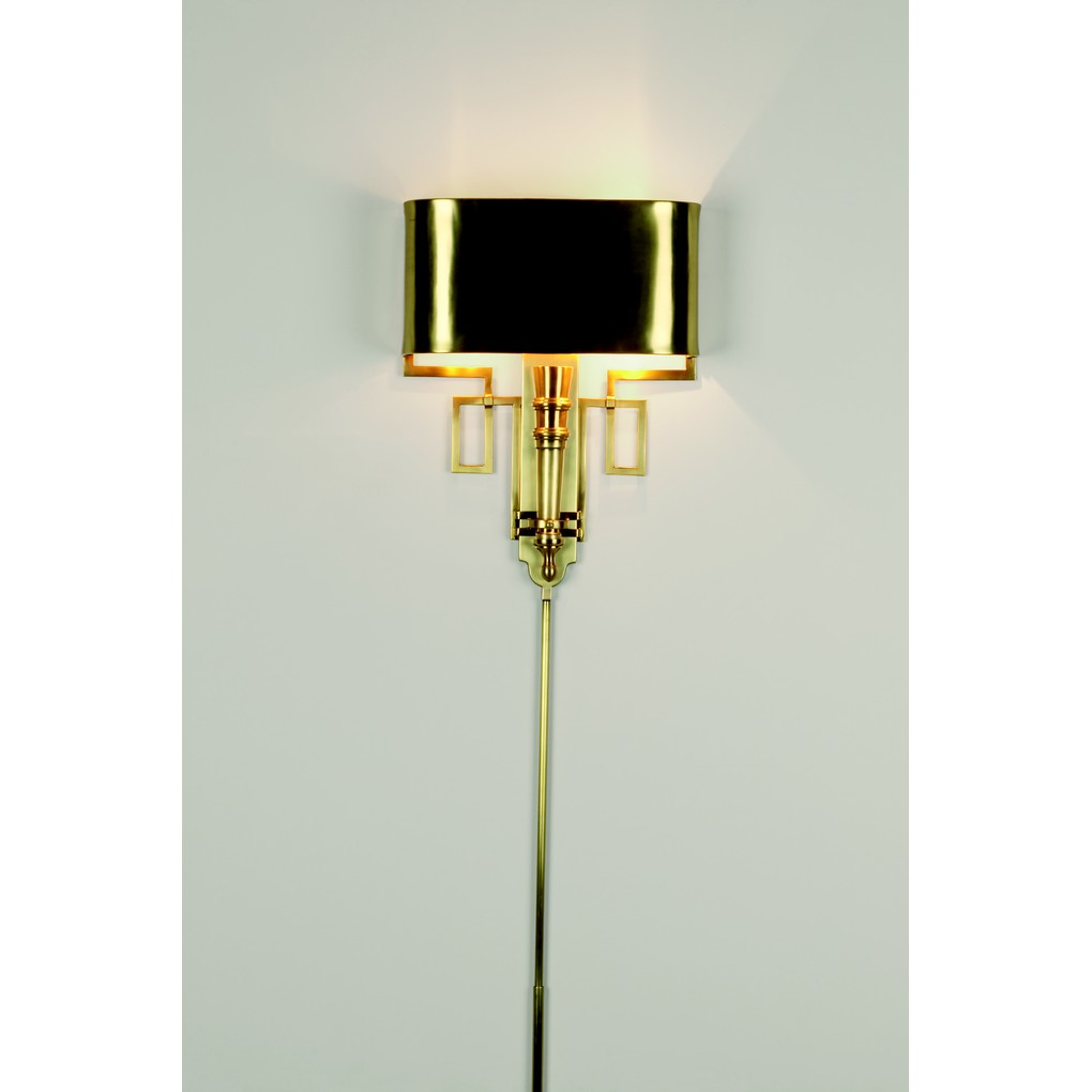Antique Brass Torch Sconce with Shade | Global Views