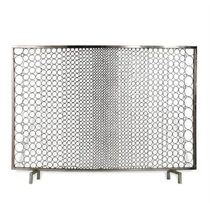 Sabrina Firescreen in Nickel | Interlude Home