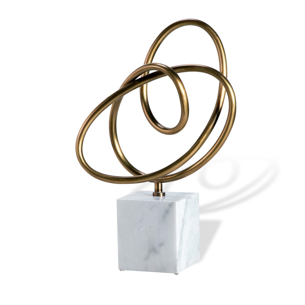 Boucle Knot in Antique Brass | Interlude Home