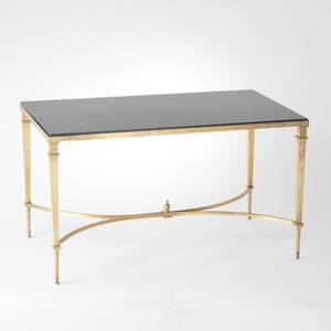 Brass and Black Granite Cocktail Table | Global Views