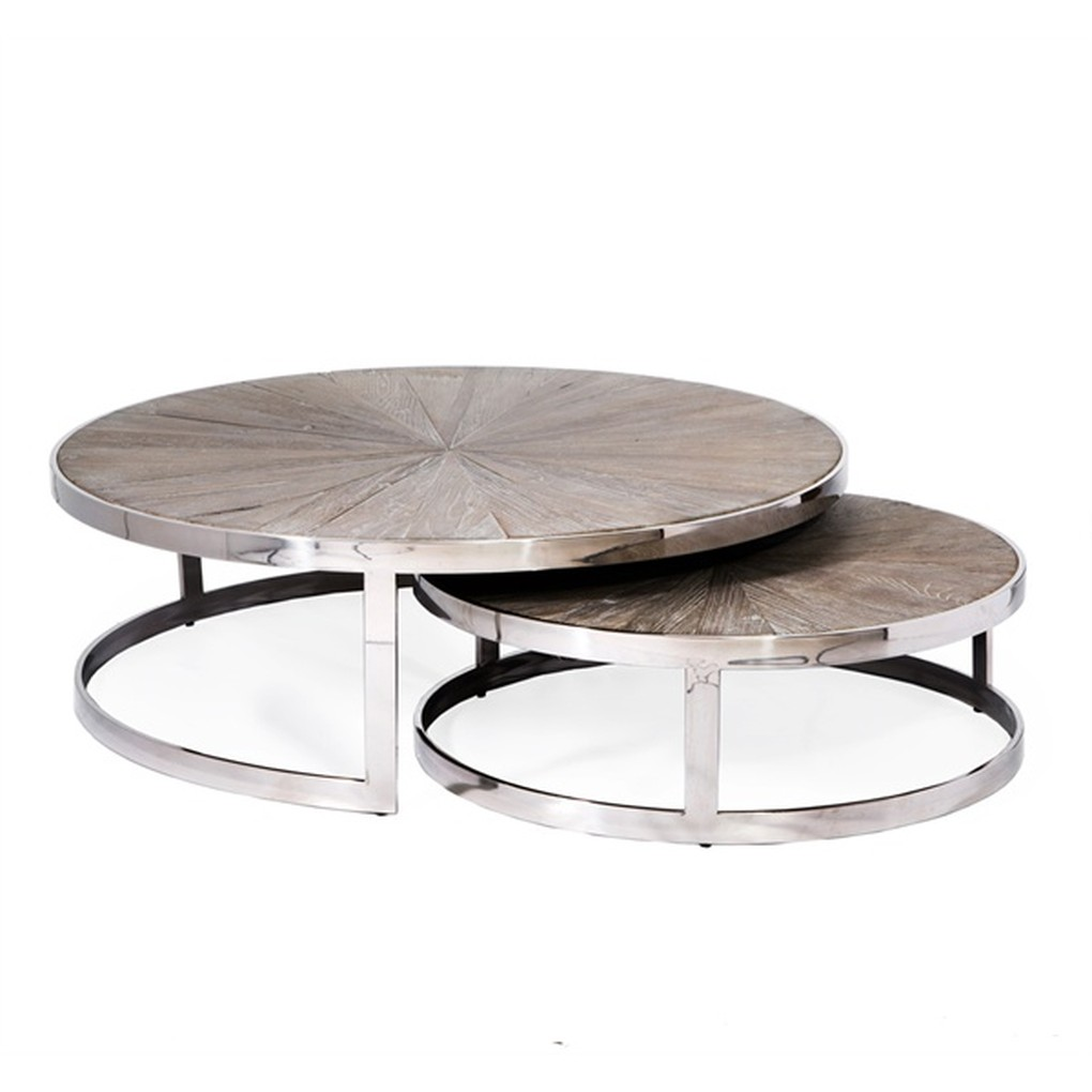 Set of Two Desoto Nesting Cocktail Tables | Interlude Home