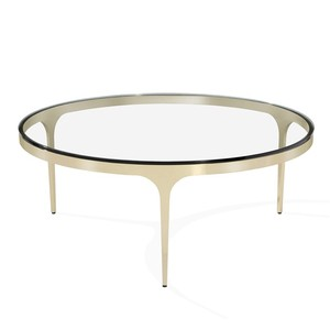 Camilla Cocktail Table in Glass and Brass | Interlude Home