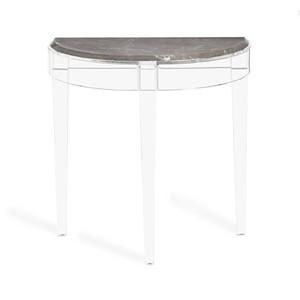 Amal Demilune Console Table in Italian Gray   Interlude Home
