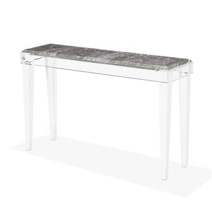 Amal Console Table in Italian Gray | Interlude Home
