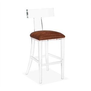 Tristan Klismos Barstool in Coffee Hide | Interlude Home