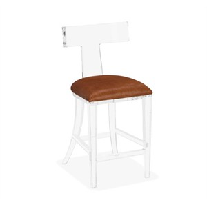 Tristan Klismos Counter Stool in Coffee Hide | Interlude Home
