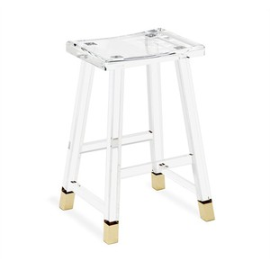 Reva Counter Stool in Brass | Interlude Home