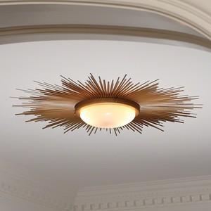 Sunburst Light Fixture in Gold