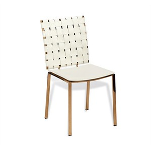 Bliss Woven Dining Chair in White