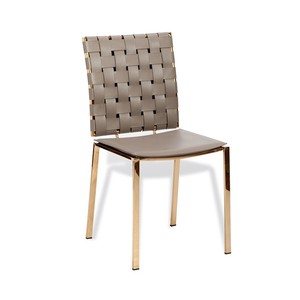 Bliss Woven Dining Chair in Taupe   Interlude Home