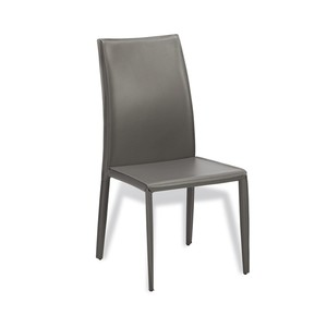 Jada High Back Dining Chair in Gray   Interlude Home