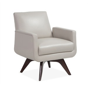 Landon Chair in Gray Leather