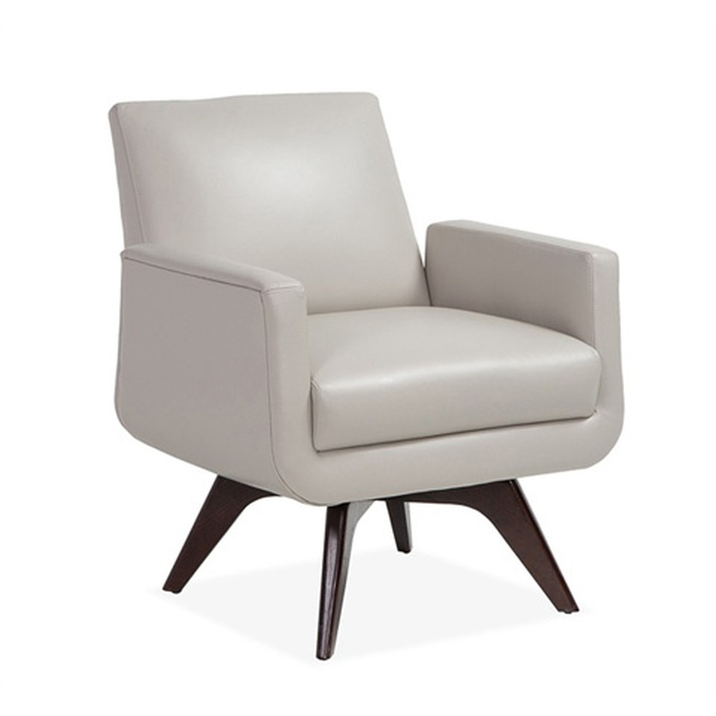 Landon Chair in Gray Leather | Interlude Home