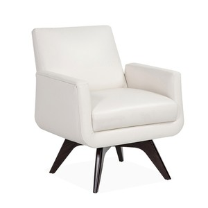 Landon Chair in Cream Leather | Interlude Home