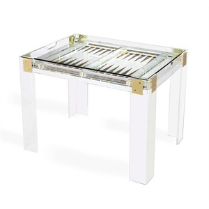 Pierre Acrylic Backgammon Game Table | Interlude Home