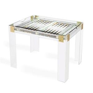 Pierre Acrylic Backgammon Game Table | Interlude Home