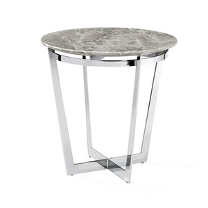 Wyatt Side Table in Italian Gray | Interlude Home