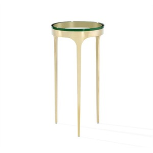 Camilla Drink Table in Glass and Brass