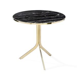 Carina Bistro Table in Nero Storm   Interlude Home