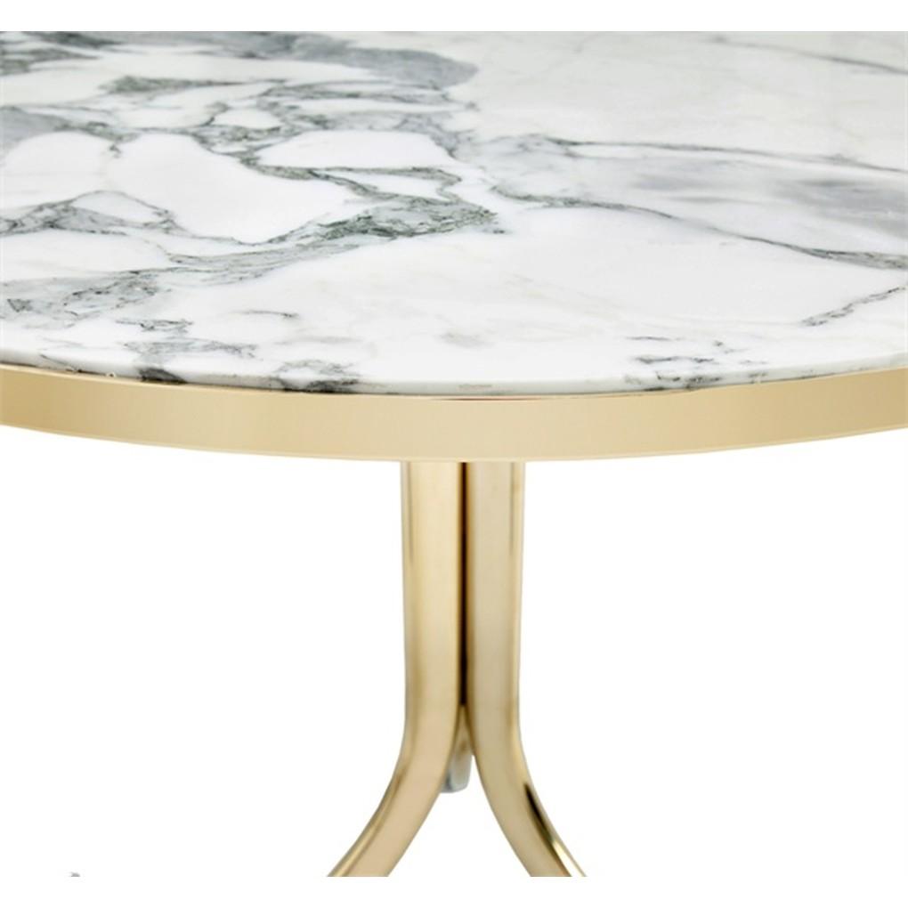 Carina Bistro Table in Arabescato and Brass | Interlude Home